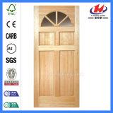 Porte en verre en bois intérieure de pin de type d'assurance