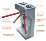 Torniquete cheio do tripé da aleta da altura do controle de acesso da porta de segurança do leitor de cartão do RF da impressão digital da boa qualidade