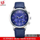 Yxl-659 2016 relojes de encargo del logotipo de la manera de los hombres venden al por mayor, cuero genuino del reloj, cuero de los hombres del reloj