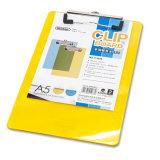 Clipboard сочинительства прозрачного цвета зажима металла A4 пластичный