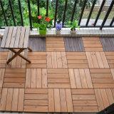 Плитка пола палубы домашних прибытий сада 2018 новых твердая трудная деревянная с пластичным основанием