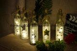 El corcho de las botellas de vino enciende las luces de la cadena del alambre de cobre, 2 M/7.2 pies de bulbos del alambre de cobre 5 LED 3D para la botella DIY, la Navidad, Wedding