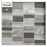 Heißes Verkaufs-Streifen-graues Aluminium-Mischglasmosaik-Fliese