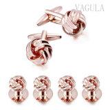 Cadeau VAGULA bijoux en or rose noeud goujons Tuxedo Liens brassard