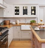 De stevige Houten Keukenkast van het Pak van Keukenkasten Vlakke