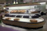 Showcase Refrigerated arredondado com iluminação brilhante do diodo emissor de luz para a leiteria e a carne