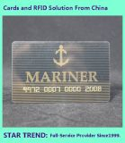 Gold Card feitas de Tarja Magnética de plástico para Club