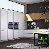 水晶石が付いている白板のラッカーMDFの食料貯蔵室の食器棚