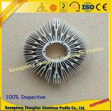 Perfil de aluminio del disipador de calor LED del perfil de aluminio del CNC