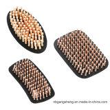Almofada de borracha com pontas redondas dos pinos de madeira para a escova de cabelo