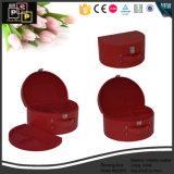 Tubo Redondo de cuero de PU rojo Wholesale Caja de almacenamiento (5228R1)