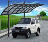 O estacionamento ao ar livre do carro da casa de campo de alumínio verteu/garagem do pára-sol/Carport vertidos estacionamento de Sun
