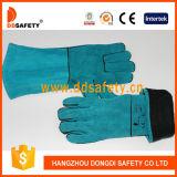 Ddsafety 2017 Rot-Kuh-aufgeteilte Schweißer-Handschuhe