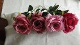 &Seda artificial de plástico rosa flor