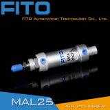 40mmはアルミ合金の単一の棒の二重代理の空気シリンダーを退屈させる
