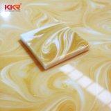 Painéis de parede em acrílico decorativa, Faux folhas em mármore branco, pedra artificial superfície sólida