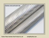 Pipe perforée d'acier inoxydable d'échappement de Ss409 76*1.2 millimètre