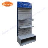 Lichtbogen-Vorsatz-Metallhängende Energien-Hilfsmittel-Zubehör Slatwall Ausstellungsstand-Kleinregale mit Ablagekasten