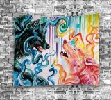Os animais impresso digital tapeçaria de elefante para decoração (01P0004)