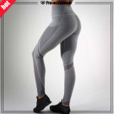 Custom Reflective Silver Logo Mulheres Leggings Sexy Yoga Pants