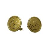 カスタマイズされた金張りのレーザーによって刻まれるロゴのカスタム金属の宝石類はネームプレートに付ける