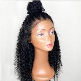 Perruque synthétique bouclée noire normale spéciale de cheveu de mode de Dlme