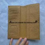 Бумажник пасспорта бумаги Kraft пробочки Washable перемещая длинний Bifold
