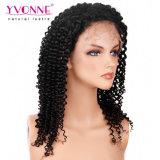 새로운 형식 가발 180% 조밀도 흑인 여성 브라질 Virgin 머리를 위한 Malaysian 컬 레이스 가발 사람의 모발 가발