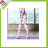 Pantaloni su ordinazione di yoga delle ghette delle ragazze di usura di forma fisica di stampa di sublimazione