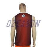 Les Mens respirables à séchage rapide de sports raffinent la chemise de singulet de sports de couleur