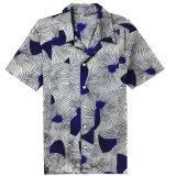 بالجملة قطر إفريقيّة شمع طباعة تصميم قصيرة كم قميص لأنّ رجال