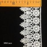 8cmの優雅なポリエステル花のふさHmhb528が付いている花嫁の服のレースのトリム