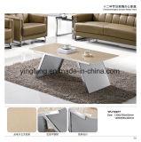 현대 사무용 가구 강화 유리 커피 탁자 Yf-T17068