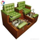 Hlyの安く容易できれいな釘の大広間の家具の単一のPedicureのベンチ