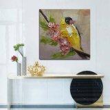 Venda por grosso de Pintura decorativa artesanais arte na parede de lona de aves para revenda