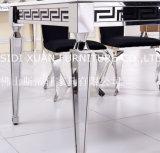 Tabela Center de jantar superior de vidro preta moderna de Itanlian com jantar da cadeira