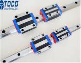 O trilho guia linear e bloco para o roteador CNC