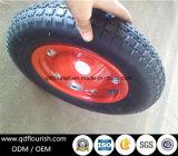 Le rotelle di gomma del carrello gonfiabile colpiscono la rotella pneumatica per il carrello