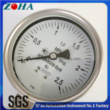 """Montage inférieur Ss Manomètre de pression 0-2.5MPa 1/2 """"NPT"""