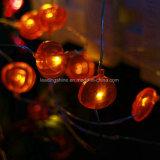 Temporizador estrellado de cobre del día de fiesta de Navidad de Víspera de Todos los Santos de las luces de hadas de la cadena del alambre LED de la calabaza teledirigido