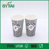 Taza de papel reciclada diseño de encargo colorido impermeable del estilo para con la tapa