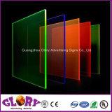 PMMA de plástico da placa de acrílico transparente e folha de acrílico