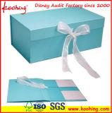 Tuch-Kasten-steifer faltbarer Papiergeschenk-Kasten (KH-P0509)