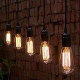 lumière 220V/110V de cru de lampe à filament d'antiquité d'ampoule de 40W E27 St58 Edison rétro