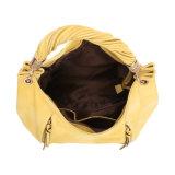 女性(MBNO042011)のためのジッパーの装飾が付いている明るく黄色い方法ルンペン袋