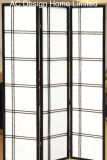 Natürliche Farben-preiswertes Reis-Papier-nichtgewebtes und hölzernes japanische Artfaltendes des Shoji-Bildschirm-Raum-Teiler-X Panel 3