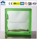 Bloco de vidro do verde 190X190X80mm da cor da alta qualidade/tijolo nebulosos