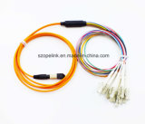Steckschnür LCoptisches Fanout-Kabel des Telekommunikations-Faser-Optiktransceiverkabel-MPO