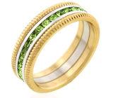 anello di oro bianco 14K con il Peridot (LRG1296)