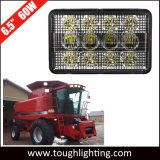 12V 6X4en inundaciones rectangular de 60W LED luces faro para tractor Case IH